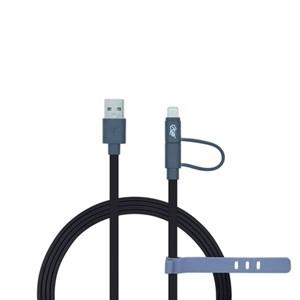 Produto Cabo 2 em 1 Lightning Certificado MFi + Micro USB i2GO Preto - i2GO Basic