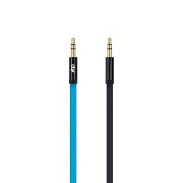 Cabo Auxiliar i2GO 1,2m PVC Flexível Flat Azul - i2GO Basic