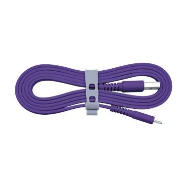 Cabo Iphone/Cabo Lightning i2GO Certificado MFi 1,2m 2,4A PVC Flexível Flat Roxo - i2GO Basic