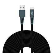 Produto Cabo Micro USB i2GO 3m 2,4A PVC Flexível Preto com Cinza - i2GO Plus