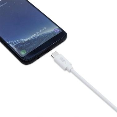 Cabo USB-C p/ USB-C i2GO 1,2m 3A PVC Flexível Branco - i2GO PRO