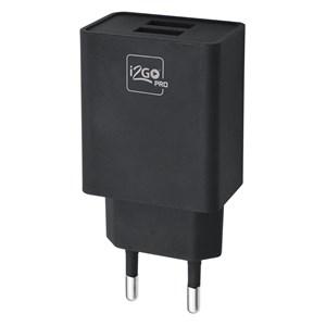 Produto Carregador de Parede com 2 Saídas USB i2GO Entrada 100-240V Saída 5V-3,4A Preto - i2GO PRO