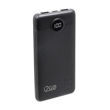 Carregador Portátil (Power Bank) Ultra Rápido 10000mAh Power Delivery 20W 2 Saídas USB + 1 Saída/Entrada USB-C Preto i2GO - i2GO PRO