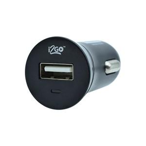 Produto Carregador Veicular com 1 Saída USB i2GO Entrada 12-24V Saída 5V-1A Preto - i2GO Basic