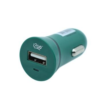 Carregador Veicular com 1 Saída USB i2GO Entrada 12-24V Saída 5V-1A Verde - i2GO Basic