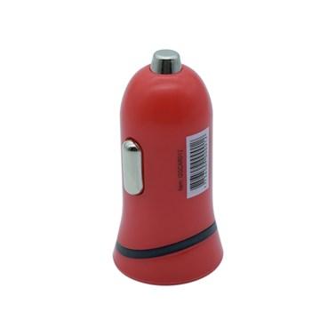 Carregador Veicular com 1 Saída USB i2GO Entrada 12-24V Saída 5V-1A Vermelho - i2GO Basic