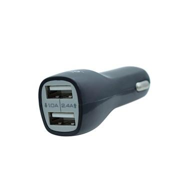 Carregador Veicular com 2 Saídas USB i2GO Entrada 12-24V Saída 5V-2,1A Preto - i2GO Basic