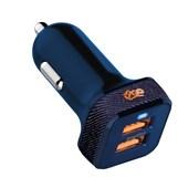 Produto Carregador Veicular com 2 Saídas USB i2GO Jeans Entrada 12-24V Saída 5V -3,4A - Jeans Fashion Series