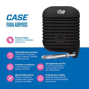 Case para Airpods à Prova D'Água i2GO Preto - i2GO Plus