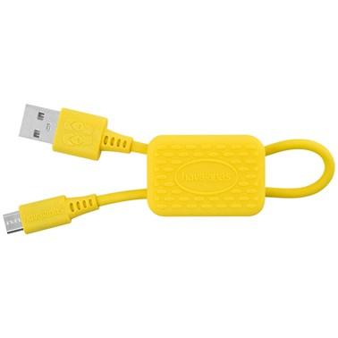 Chaveiro Havaianas by i2GO com Cabo Micro-USB 24cm 2,4A  - Amarelo Banana