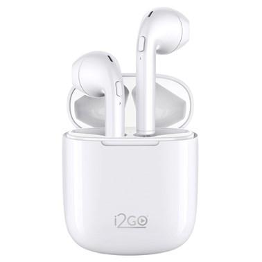 Fone de Ouvido Bluetooth sem fio TWS Air Sound Go 2 i2GO com Estojo de Carregamento - i2GO Plus