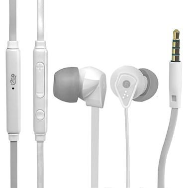 Fone de Ouvido i2GO Intra-Auricular com microfone 1,2m 103db Branco - i2GO PRO