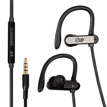 Fone de Ouvido I2GO Sport Go com Microfone e Controle Multimídia 1,2m Preto - I2GO Plus