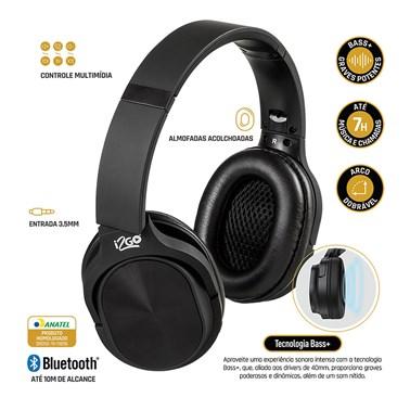 Headphone Bluetooth Comfort GO i2GO com Microfone e Controle Multimídia - i2GO PRO