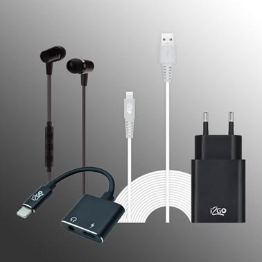 Kit Áudio e Carregamento para iPhone (Cabo Lightning /iPhone) - i2GO PRO