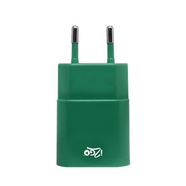 Kit Carregador de Parede + Cabo Lightning 2,4A i2GO Verde - i2GO Basic