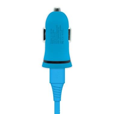 Kit Carregador Veicular 1A + Cabo Lightning 2,4A i2GO Azul - i2GO Basic