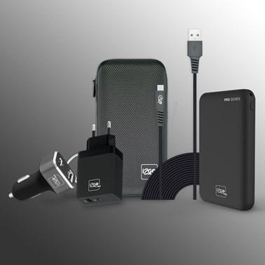 Kit Carregamento Power Delivery para Smartphone Android (Cabo Micro-USB de 3 metros) - i2GO PRO