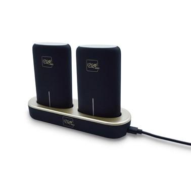 Kit com 2 Carregadores Portáteis (Power Bank) 5000mAh i2GO + Base Carregadora - i2GO PRO