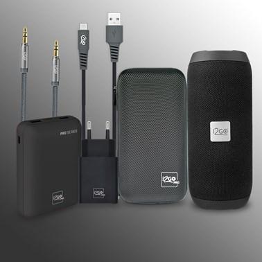 Kit Completo Caixa de Som Essential Sound GO 10W - i2GO PRO