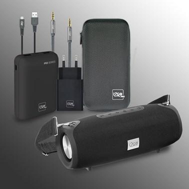 Kit Completo Caixa de Som Ultra Sound GO 20W - i2GO