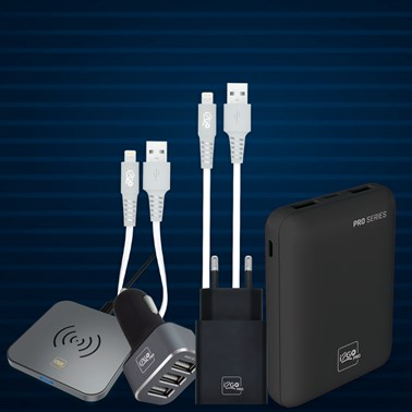 Kit Completo Carregamento para iPhone (Cabo Lightning) - i2GO