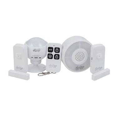 Kit de Segurança Inteligente i2GO com 1 Sensor de Movimento + 2 Sensores de Porta + Central de Alarme - i2GO Home