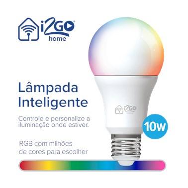 Lâmpada Inteligente Smart Lamp i2GO Wi-Fi 10W - i2GO Home