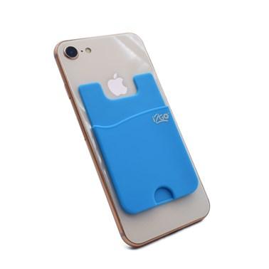 Porta Cartão para Smartphone Smart Pocket i2GO Silicone Azul - i2GO Basic