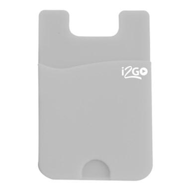 Porta Cartão para Smartphone Smart Pocket i2GO Silicone Cinza - i2GO Basic