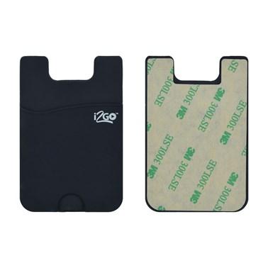 Porta Cartão para Smartphone Smart Pocket i2GO Silicone Preto - i2GO Basic