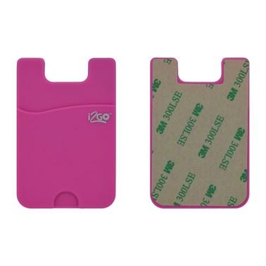 Porta Cartão para Smartphone Smart Pocket i2GO Silicone Rosa - i2GO Basic